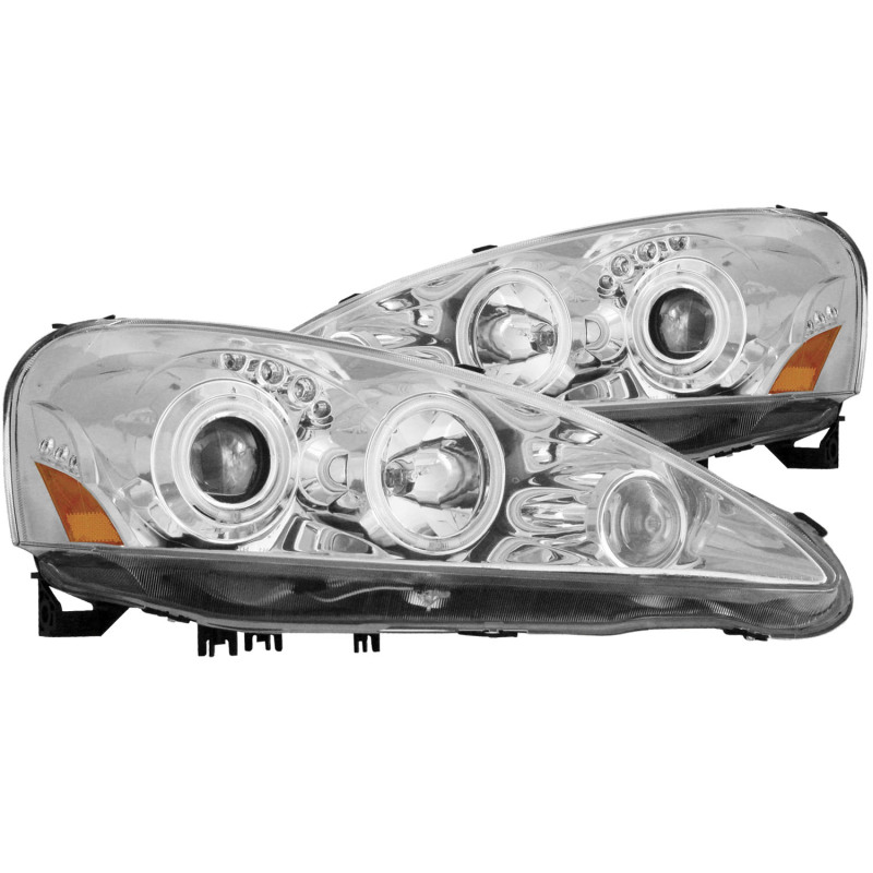 ANZO 05-06 RSX Chrome Projector Headlights