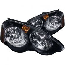 ANZO 02-04 RSX Black Crystal Headlights