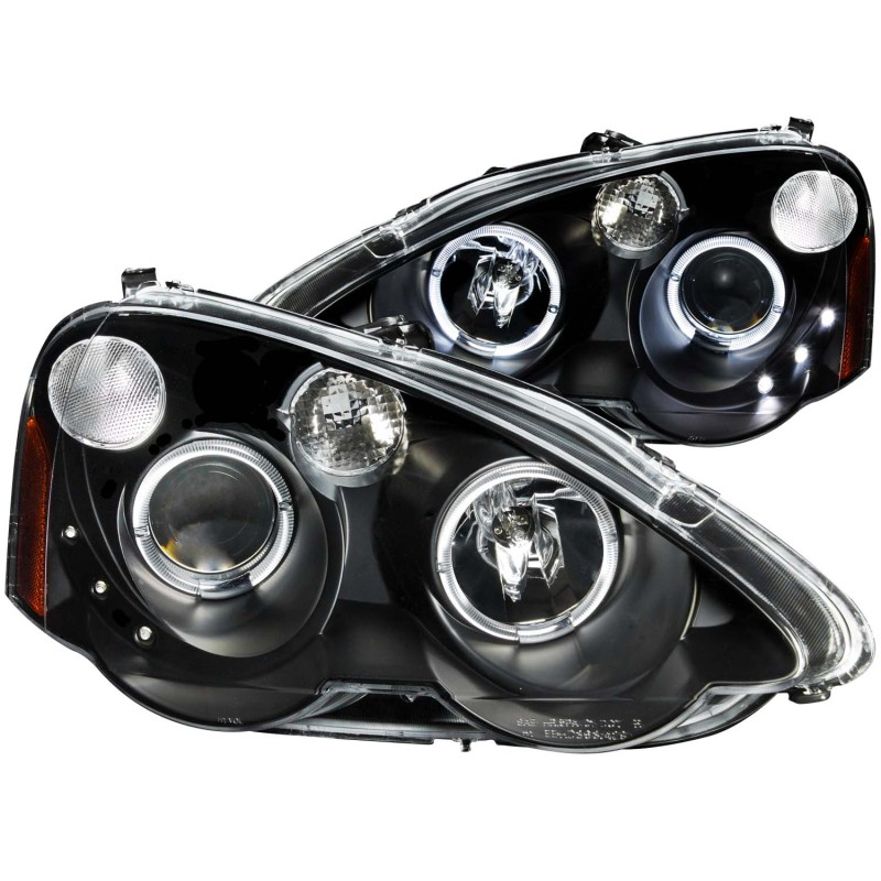 ANZO 02-04 RSX Black Projector Headlights