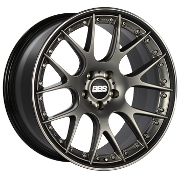 BBS CH 610 Satin Platinum Center with Black Lip: 21x9 +32