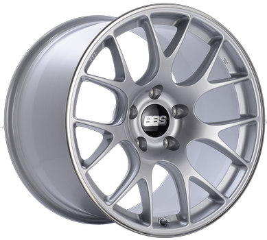 BBS CH 116 Brilliant Silver w/ Polished S.S. Lip: 20x10.5 +25