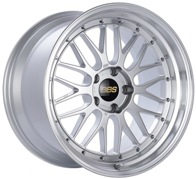 BBS LM 229 Diamond Silver w/ Polished S.S. Lip: 20x8.5 +32