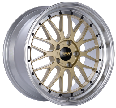 BBS LM 249 Gold w/ Polished Stainless Steel Lip: 19x8.5 +48