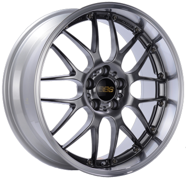 BBS RS 962 Diamond Black w/ Polished S.S. Lip: 19x10 +25