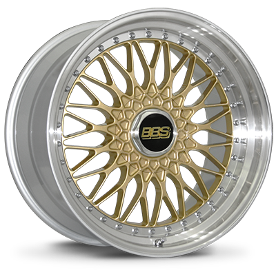 BBS RS 540 Gold with Polished Stainless Steel Lip: 19x9 +42