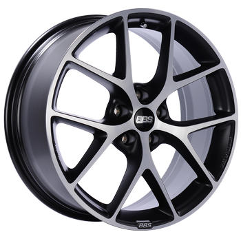 BBS SR 017 Satin Black with Diamond Cut Face: 18x8 +40