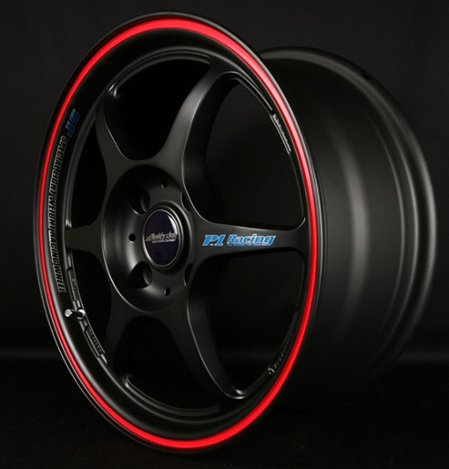 Buddy Club Black With Red Challenge Wheel 18x8.5