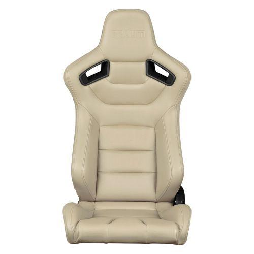 Braum Elite Series Beige Leatherette Racing Seats: Pair