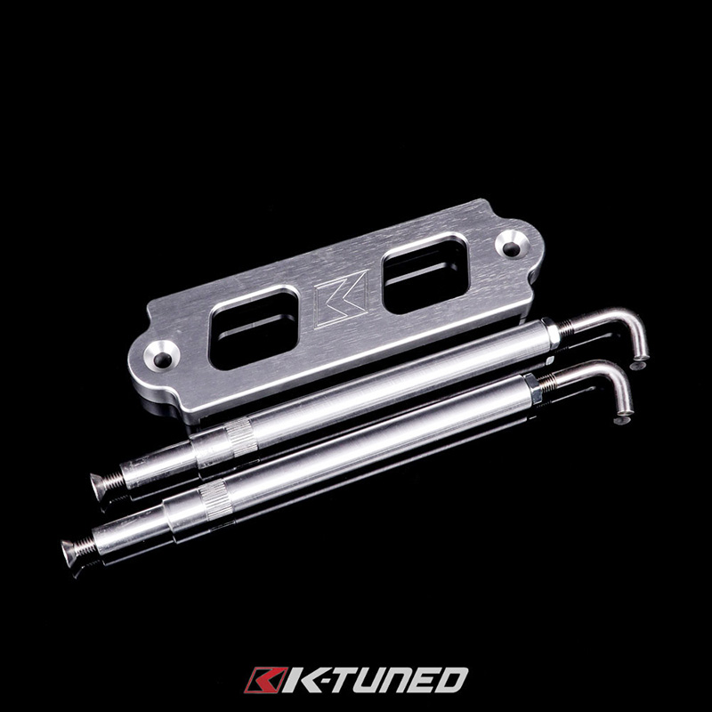 K-Tuned Billet Battery Tie-Down: Silver