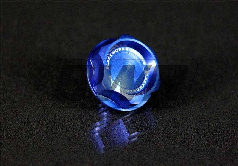 Blackworks Racing Billet Oil Cap: Blue