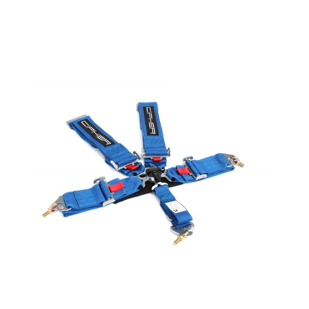 Cipher Racing Blue 5 Point Camlock Racing Harness