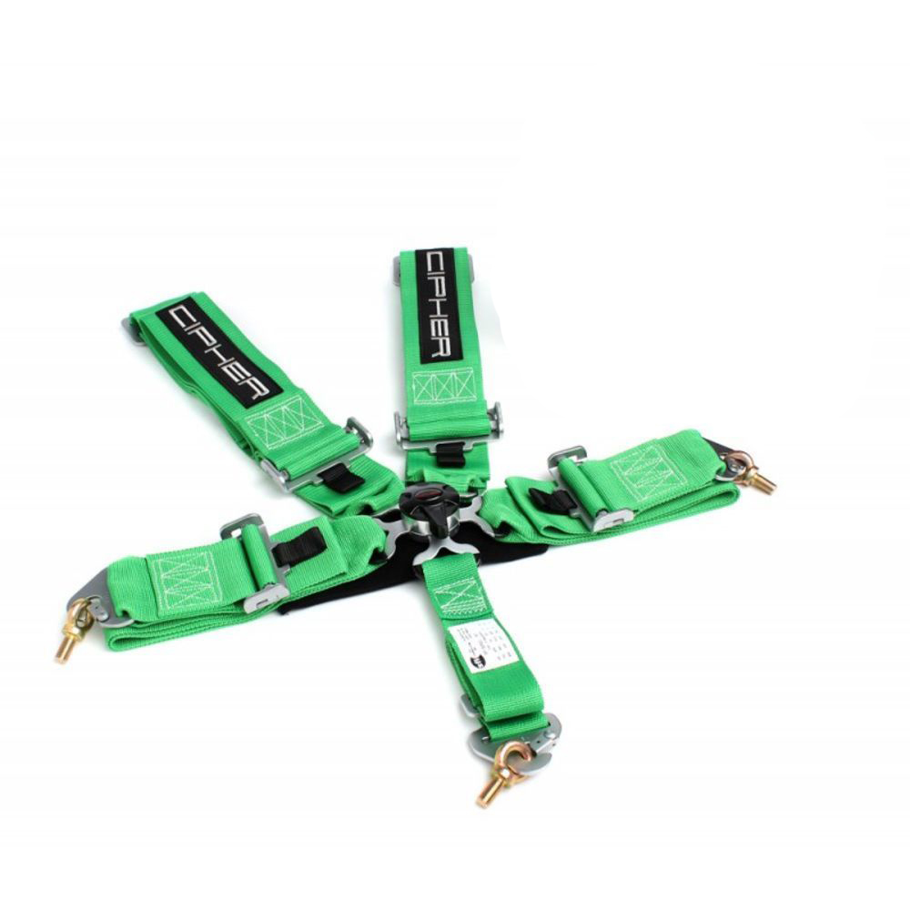 Cipher Racing Green 5 Point Camlock Racing Harness