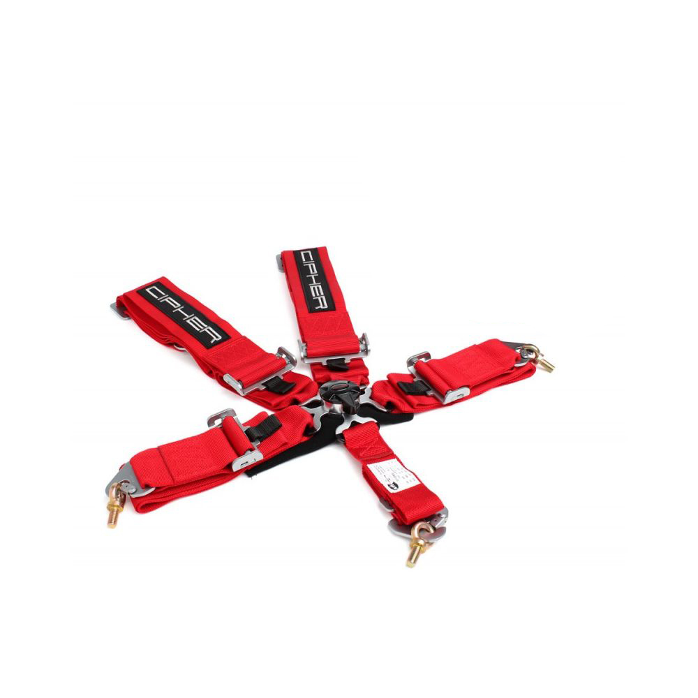 Cipher Racing Red 5 Point Camlock Racing Harness
