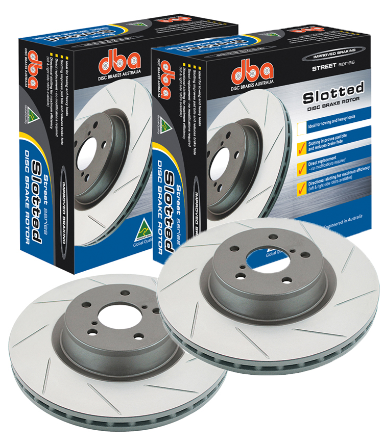 DBA Street Series Slotted Front Rotors: Pair