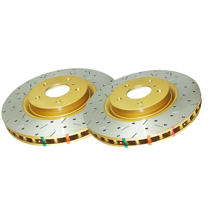 DBA 00-09 S2000 4000 Series Drilled and Slotted Rear Rotors: Pair