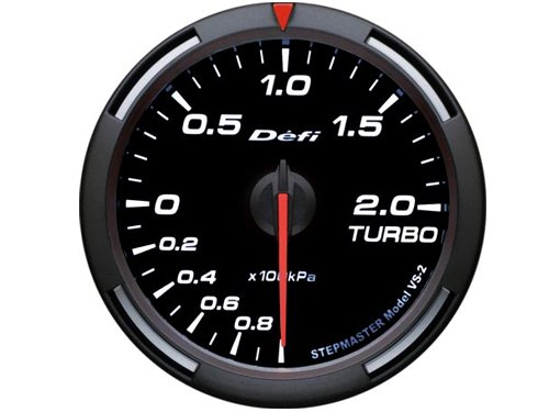 DEFI White Racer Metric Boost Gauge