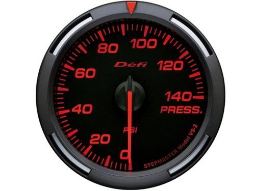 Defi 52mm Red Racer Pressure Gauge