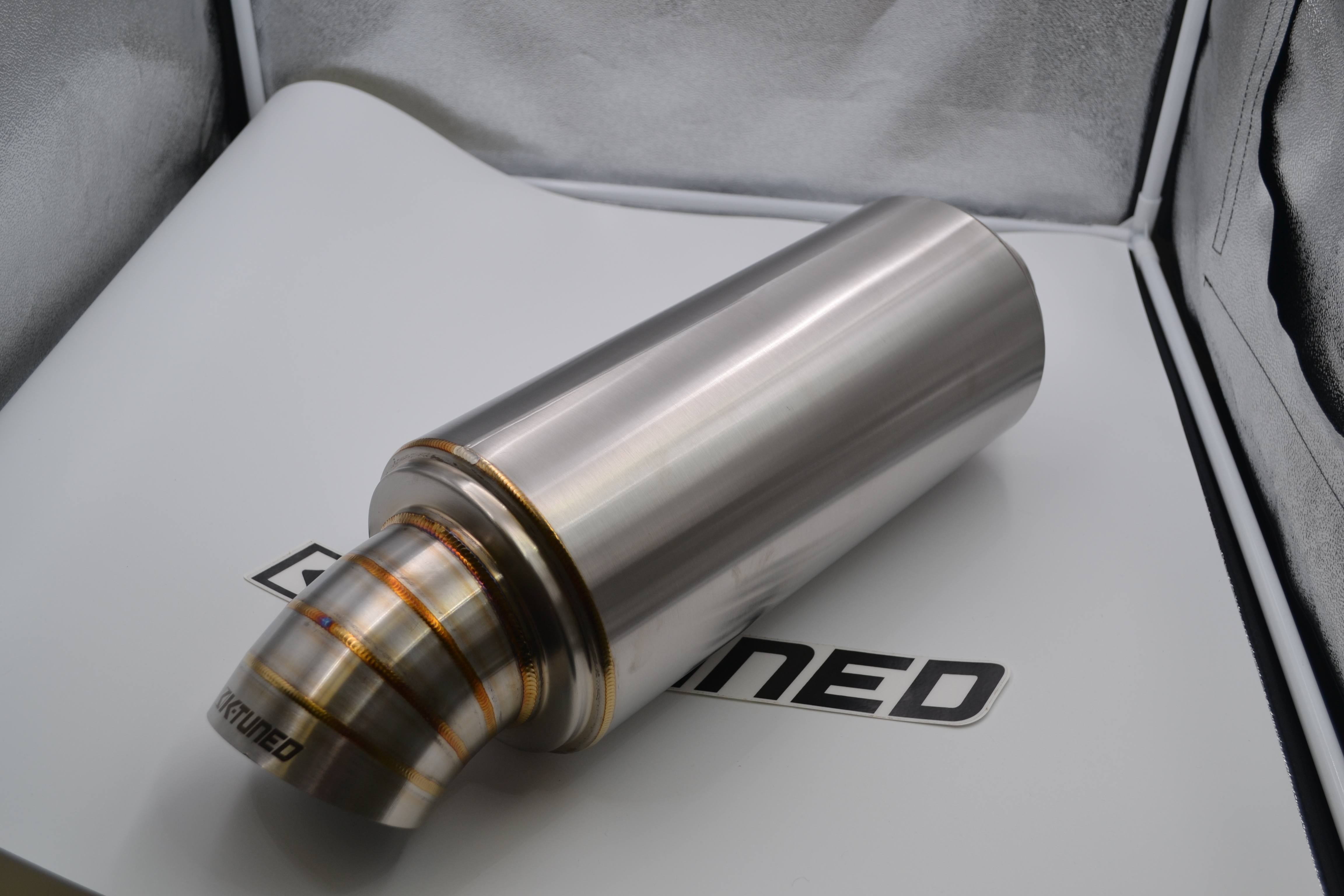 "K-Tuned 2.5"" Universal Turndown Muffler *Open Box*"