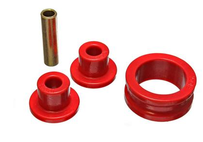 Energy Suspension Steering Rack Bushings: Red
