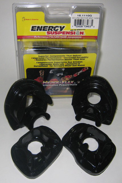 Energy Suspension Engine Mount Inserts: Black