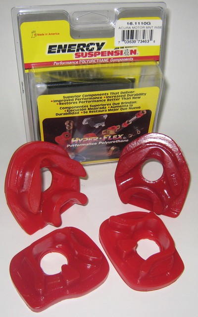Energy Suspension Engine Mount Inserts: Red