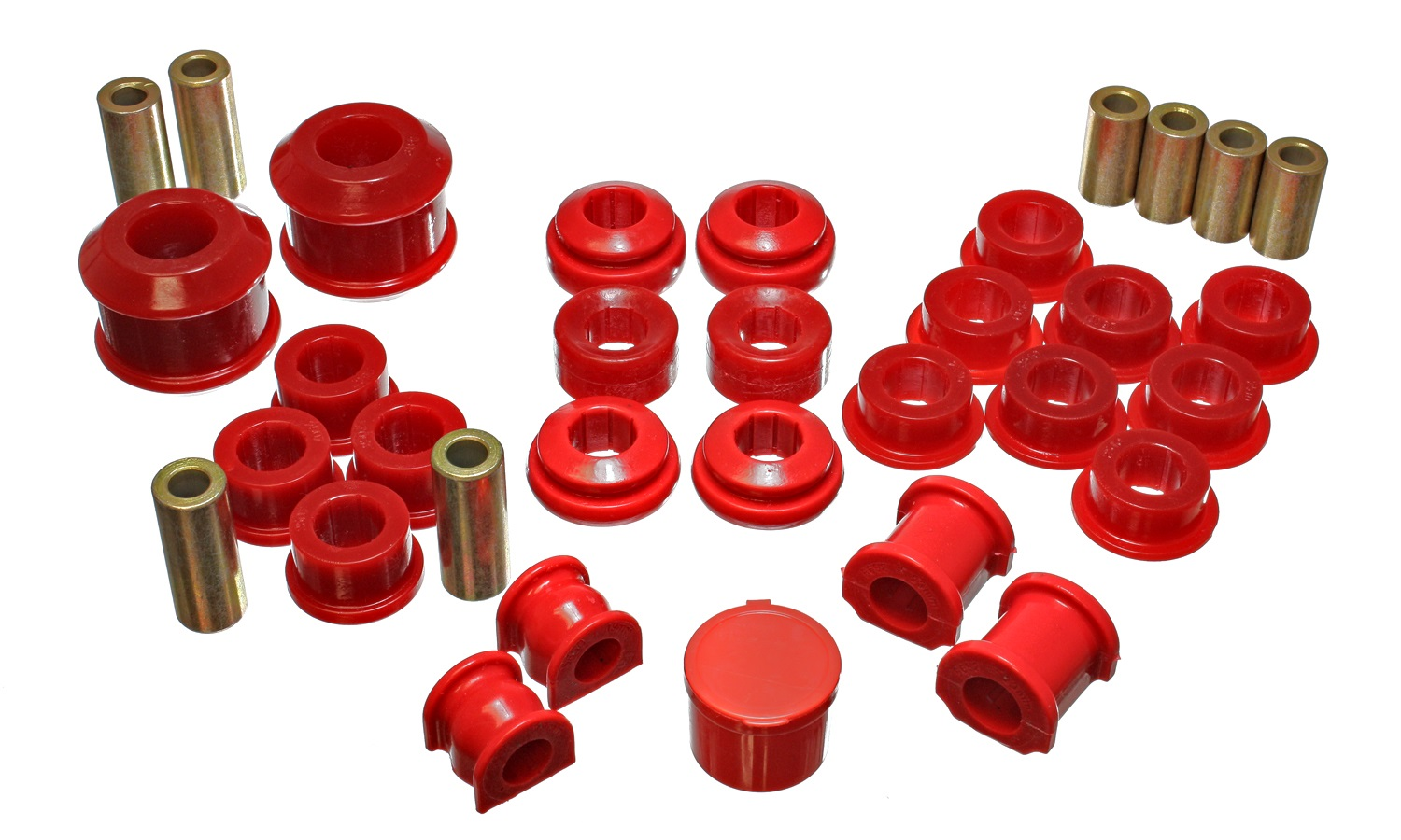 Energy Suspension Bushing Kit: Red