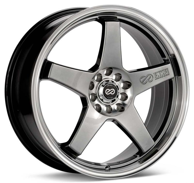 Enkei EV5 Hyper Black Wheel: 17x7 +45