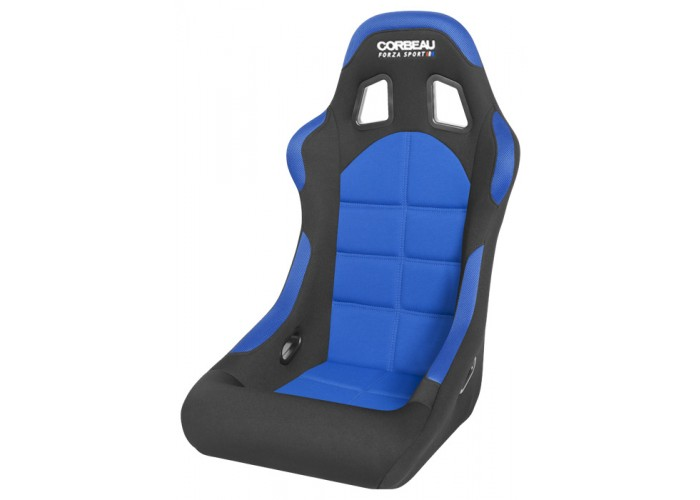 Corbeaus Black/Blue Cloth Forza Sport Seat