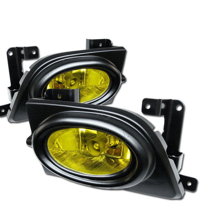 Spyder Auto 06-08 Civic Sedan Foglight Kit: Yellow