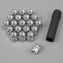 Gorilla Chrome Lug Nuts (Open End): 20 Pack M12 x 1.5