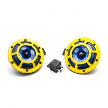 Hella Sharptone Horn Kit: Yellow 415/350Hz