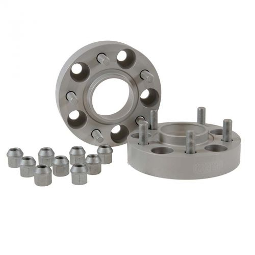 H/&R 25mm DRA Bolt-On Wheel Spacers for Mercedes 5x112//66.5//14x1.5//Black