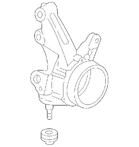 Honda Oem 02 04 Acura Rsx Front Passenger Knuckle K Series Parts