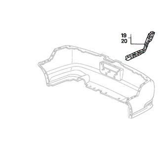 Honda Bumper Spacer: Drivers Side