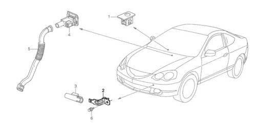 Honda 02 06 Rsx Ambient Sensor Bracket K Series Parts