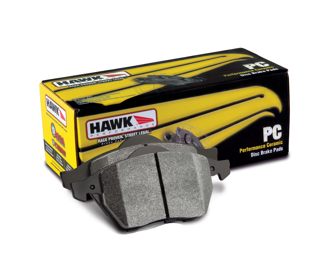 Hawk Ceramic Brake Pads: Rear
