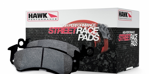 Hawk HP Street Race Brake Pads: Front and Rear