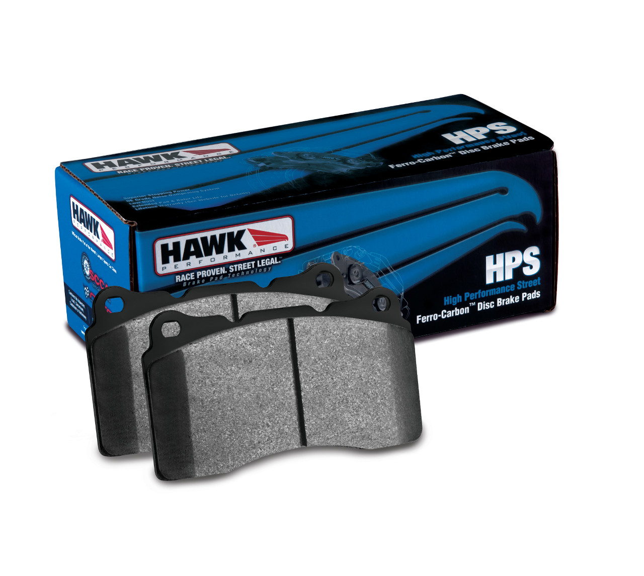 Hawk 02-06 RSX Base / 07-13 Fit HPS Brake Pads: Front
