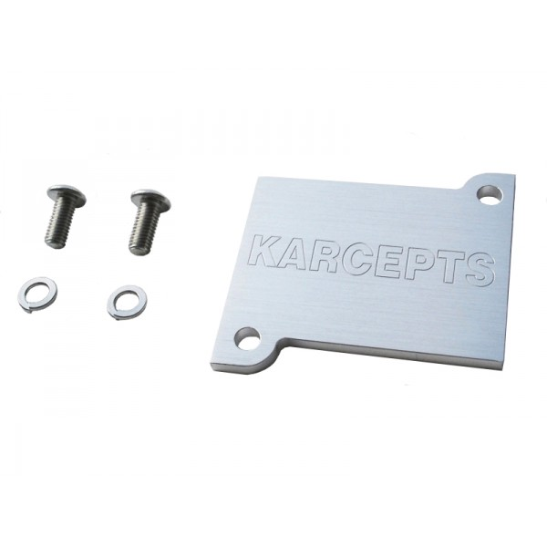 Karcepts Idle Air Control Valve Block-Off Plate: K20A / K20A2 / K20A3 / K20Z1 Throttle Body