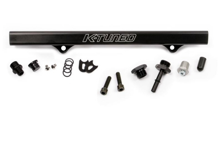 K-Tuned Fuel Rail with EFI Fittings and IAA Delete: Black