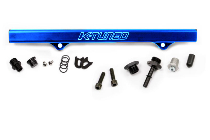 K-Tuned Fuel Rail with EFI Fittings and IAA Delete: Blue