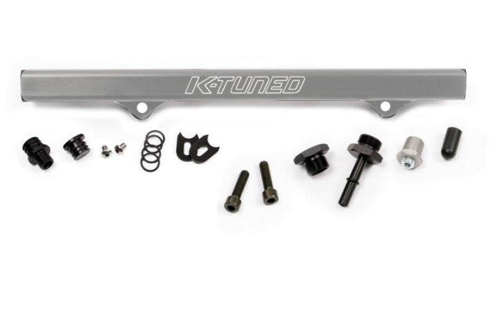 K-Tuned Fuel Rail with EFI Fittings and IAA Delete: Brushed