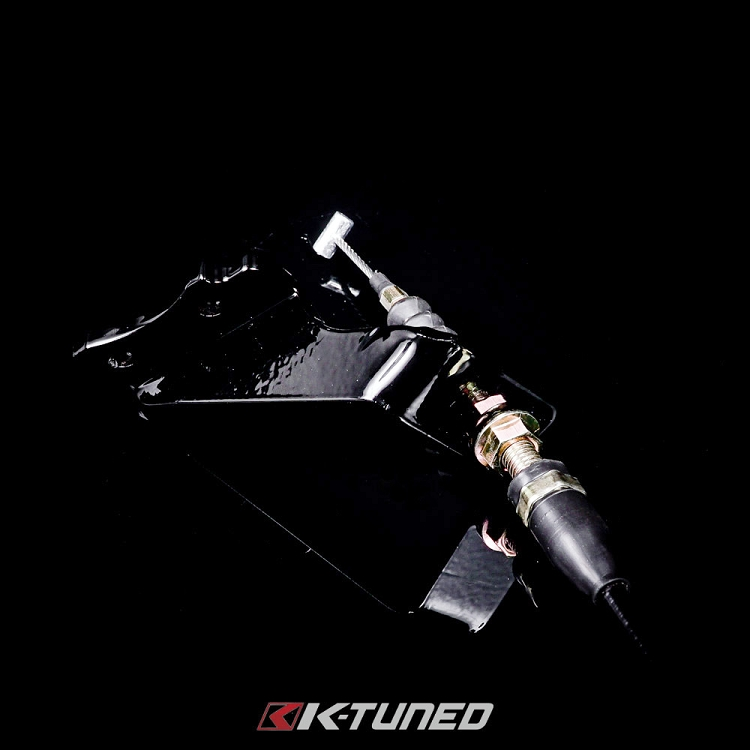 K-Tuned 02-06 RSX Steel Throttle Cable Bracket with Cable