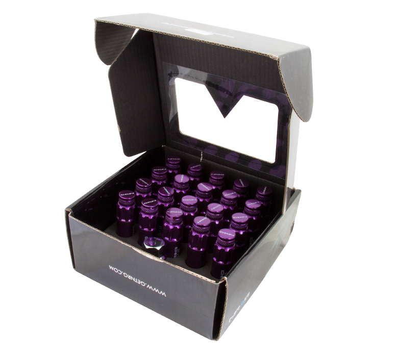 NRG Purple 700 Series Steel Lug Nuts: Set Of 21 M12 x 1.5