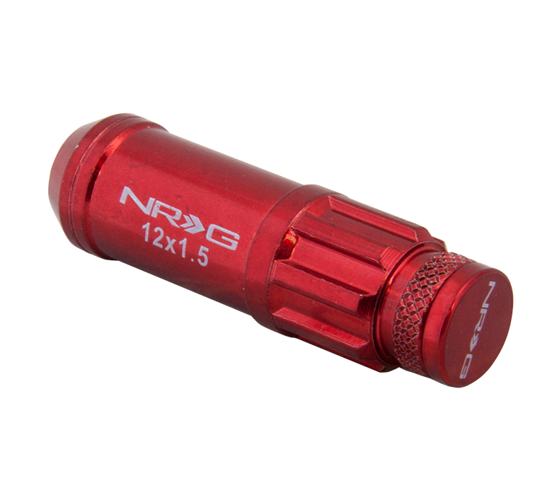 NRG Red 700 Series Steel Lug Nuts: Set Of 21 M12 x 1.5