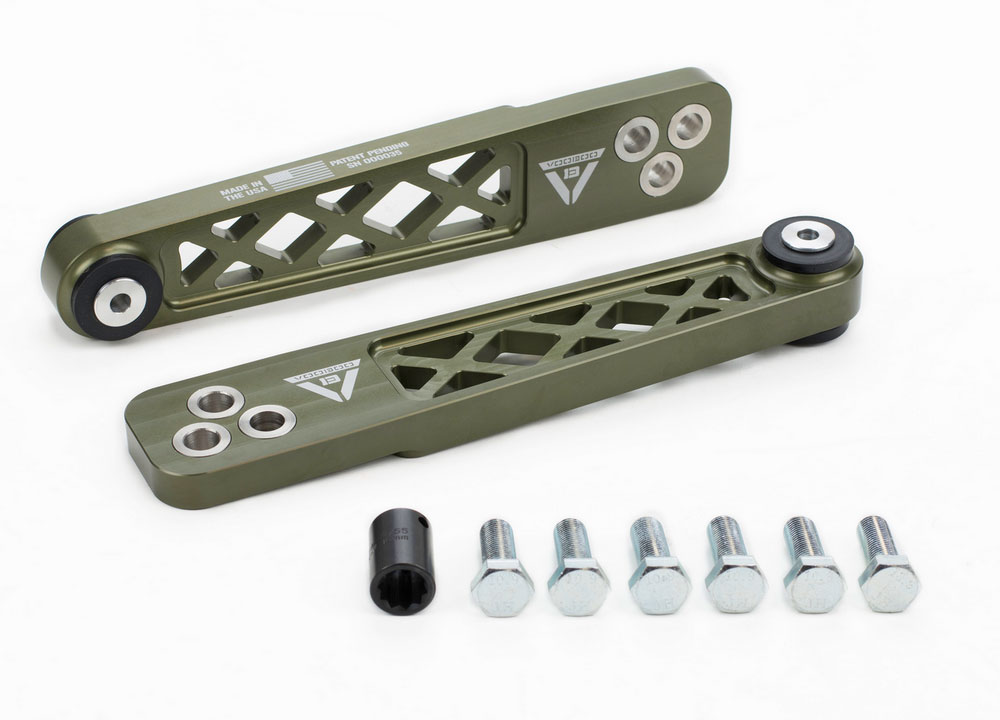 Voodoo13 2-06 RSX Rear Lower Control Arms: Hard Green