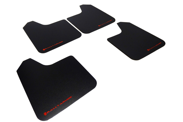 Rally Armor Universal Basic Mud Flaps Black w/ Red Logo