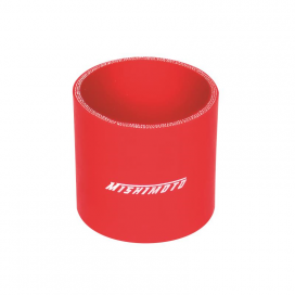 "Mishimoto Straight 2.5"" Coupler: Red"