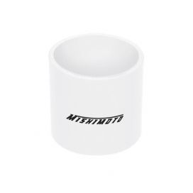 "Mishimoto Straight 2.5"" Coupler: White"