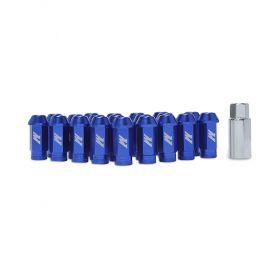Mishimoto Aluminum Lug Nuts with Lock: Blue Red M12 x 1.5